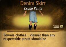 F Denim Skirt