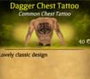 Dagger Chest Tattoo