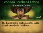 Voodoo forehead tattoo