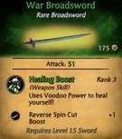 War Broadsword