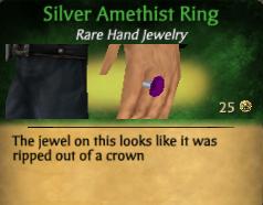 SilverAmethistRing