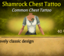 Shamrock Chest Tattoo