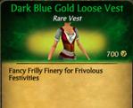 Dark Blue Gold Loose Vest
