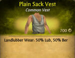 Plain Sack Vest