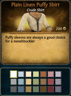 Plain linen puffy shirt