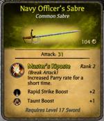 Navy Officer's Sabre