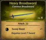 Heavy Broadsword Card