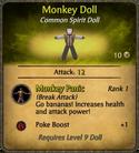 Monkey Doll Card