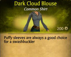 F Dark Cloud Blouse