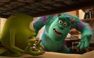 Sulley next to mike