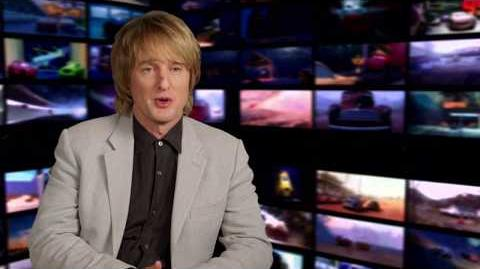 """Cars 3 """"Lightning McQueen"""" Owen Wilson Interview"""