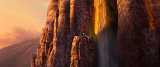 File:Brave cliff fall sunset.jpg