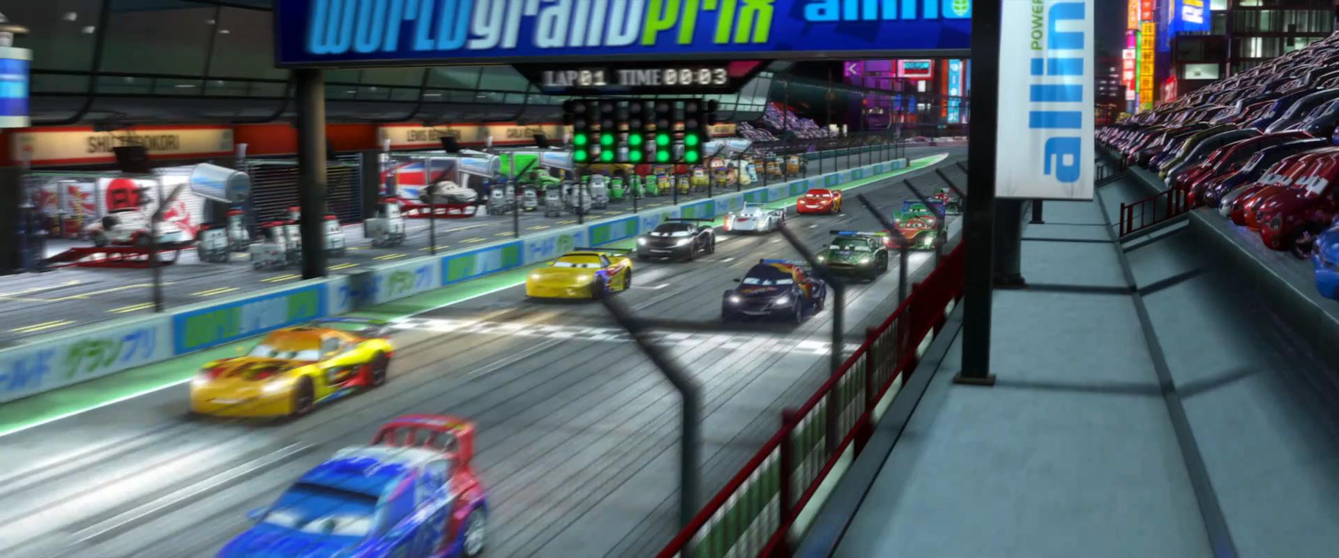 Image Cars Start Race Tokyo Trailer Png Pixar Wiki