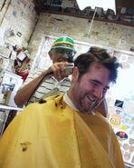 Joe Ranft at Barbershop