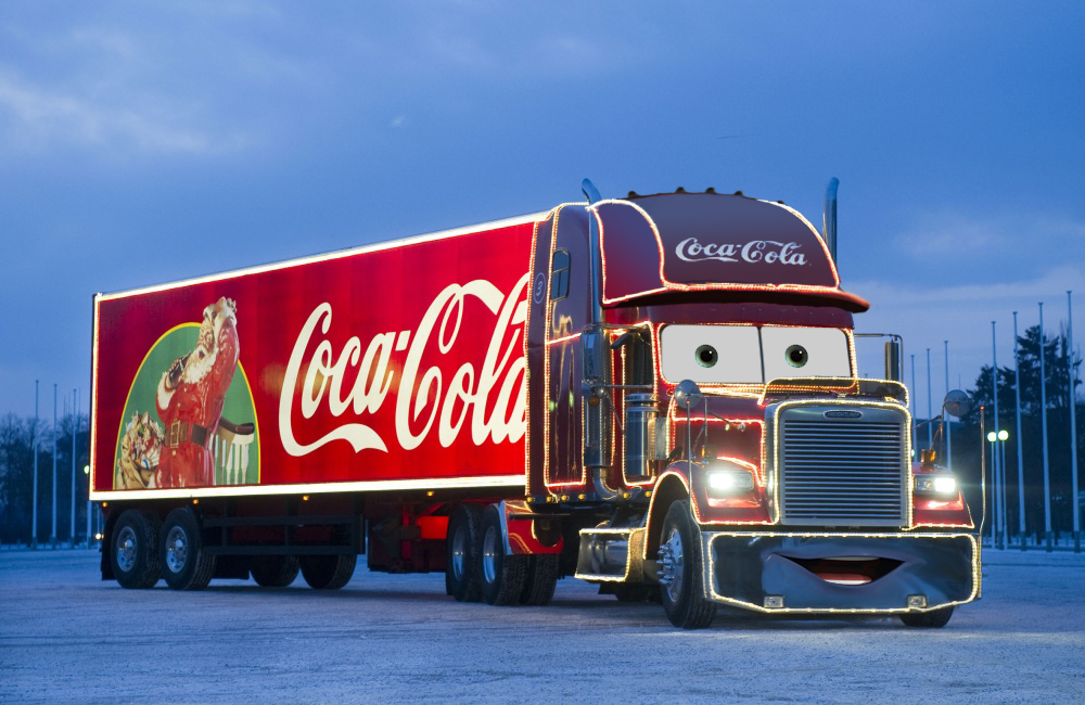 image holiday coke truck pixarized by alleycatzero. Black Bedroom Furniture Sets. Home Design Ideas
