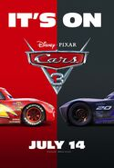 Cars 3 Its On Poster