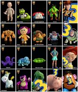 Toy story three character