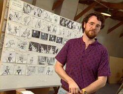 Joe storyboarding