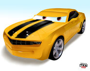 What Bumble from Transformers would look like as a Pixar Cars character