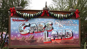 Chirstmas Cars Land Billboard