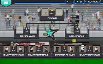 Tournament Heats screen