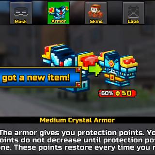 Heavy Crystal Armor.