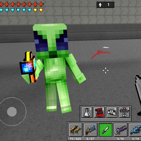 An alien armed with an <a href=