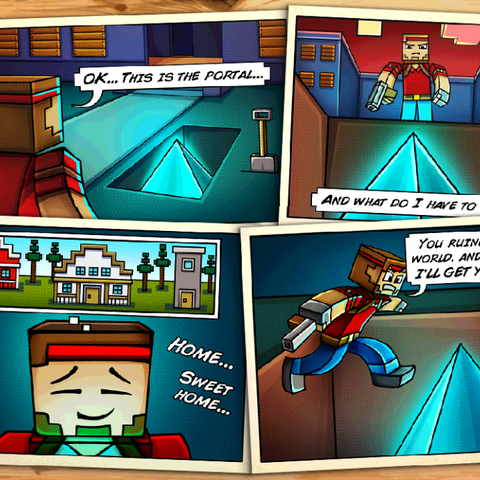 The last story comic for Pixelated World.