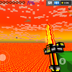 Ammo packs floating above the lava, outside of map.