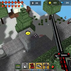 An example of a hidden coin in a level