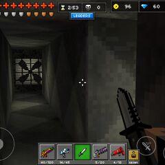 Inside the underground hallways.