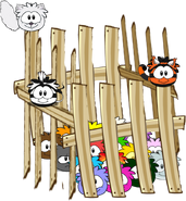 Puffle Fence With Puffles