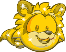 Gold Racoon Puffle