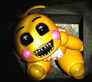Toy Chica in the vents