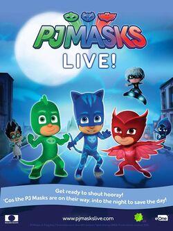 PJ Masks Live! promotional poster