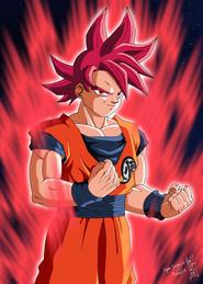 Super Saiyanin God fanart (3)