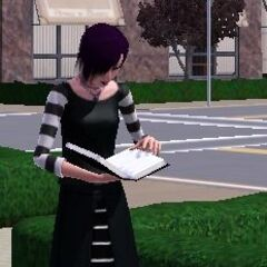 Kornelia czytająca książkę