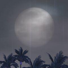 Mroczne Isla Paradiso podczas pełni księżyca