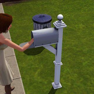 Simka wyciąga świeżą pocztę.