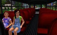 Wnętrze autobusu szkolnego w The Sims 3