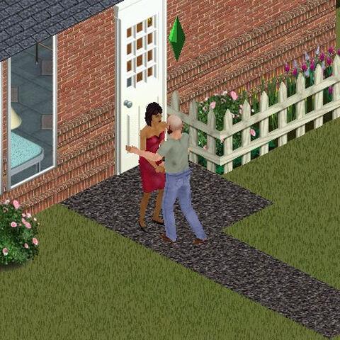 Robert i Bella Ćwir - jego sąsiadka z Otoczenia 1