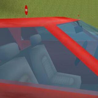Wnętrze tego samochodu.