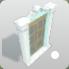 Stucco Window Large Rectangular Open icon