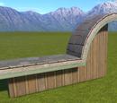 Natural Wood Batten Wall Top Half Round Arch Left