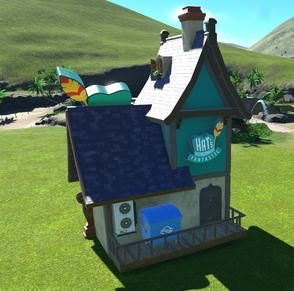 Fairytale Village Hat Shop back side