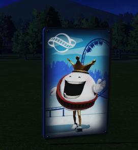 Wall Poster 02 - Coaster King at night