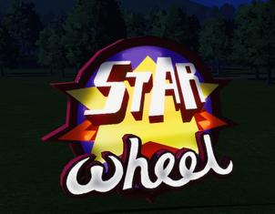 Ride Sign - Star Wheel at night