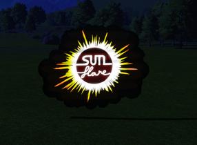 Ride Sign - Sun Flare lit