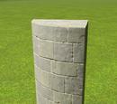 Castle Curved Column 4m