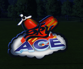 Ride Sign - Sky Ace at night